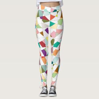 Colorful Harlequin Tapestry Pattern Leggings
