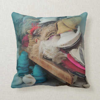 Colorful Hats from Ecuador Throw Pillow