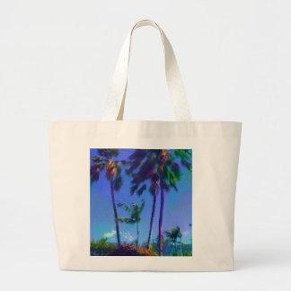 Colorful Hawaiian Palm Trees Jumbo Tote Bag