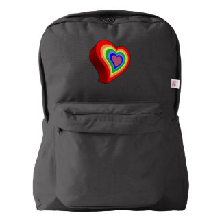 Colorful heart backpack
