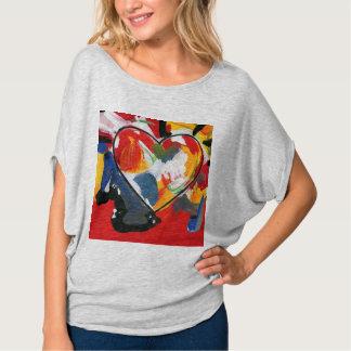 Colorful heart circle top t-shirt