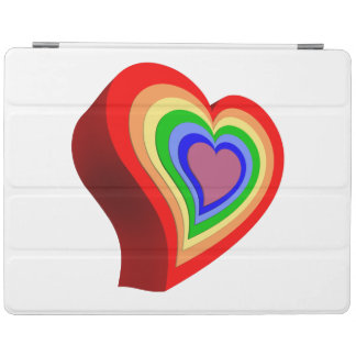 Colorful heart iPad cover