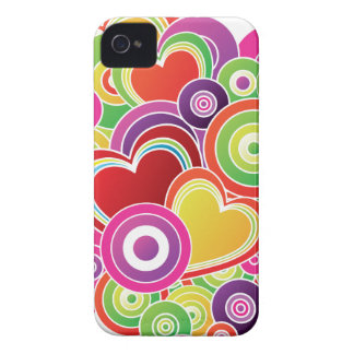 Colorful Heart pattern iPhone 4 Covers