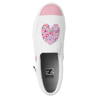 Colorful Heart Slip-On Sneakers