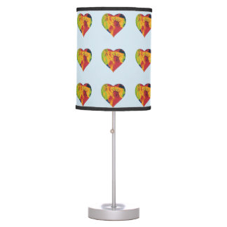 Colorful heart statue of liberty table lamp