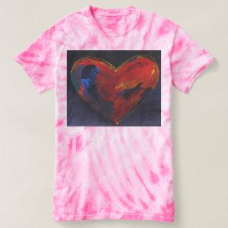 Colorful heart tie dye t-shirt