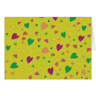 Colorful hearts card