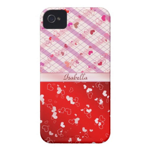 Colorful hearts blackberry case