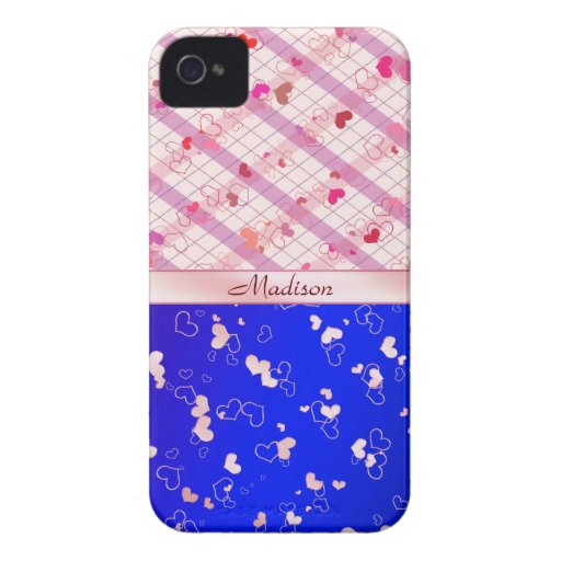 Colorful hearts Case-Mate blackberry case