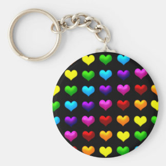 colorful hearts keychain