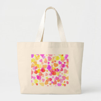 Colorful Hearts Large Tote Bag