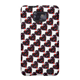 Colorful hearts love case samsung galaxy s2 cases