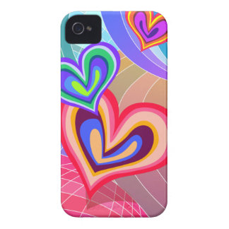 Colorful Hearts Love Melody Blackberry Bold Case