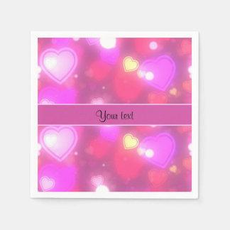 Colorful Hearts Paper Napkin