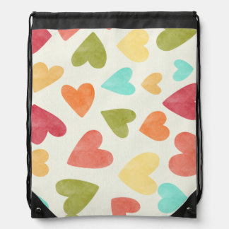 Colorful hearts pattern for your backpack