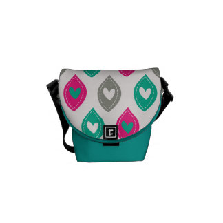 Colorful Hearts Pattern Commuter Bags