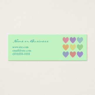 Colorful Hearts Profile Card