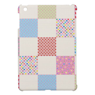 Colorful hearts quilt pattern case for the iPad mini