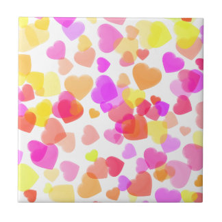 Colorful Hearts Tiles