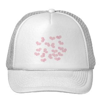 colorful hearts trucker hat