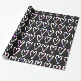 Colorful Hearts Wrapping Paper