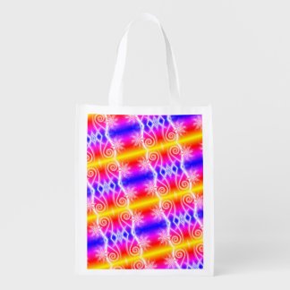Colorful Helix Reusable Grocery Bag