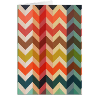 Colorful Herringbone Chevron Pattern Card
