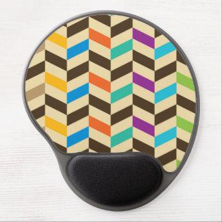 Colorful Herringbone Geometric Modern Pattern Gel Mouse Pad
