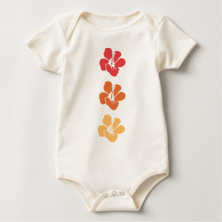 Colorful Hibiscus Flowers Baby Bodysuit