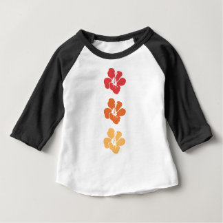 Colorful Hibiscus Flowers Baby T-Shirt