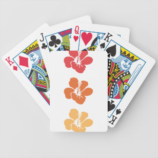 Colorful Hibiscus Flowers Bicycle Playing Cards