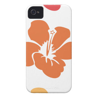Colorful Hibiscus Flowers iPhone 4 Case-Mate Case