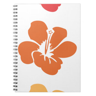 Colorful Hibiscus Flowers Notebook