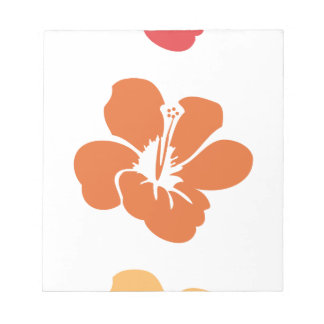 Colorful Hibiscus Flowers Notepad