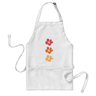 Colorful Hibiscus Flowers Standard Apron