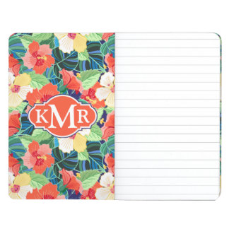Colorful Hibiscus Pattern | Monogram Journals