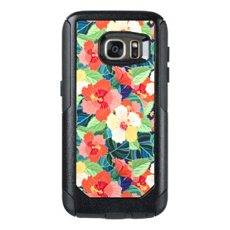 Colorful Hibiscus Pattern OtterBox Samsung Galaxy S7 Case