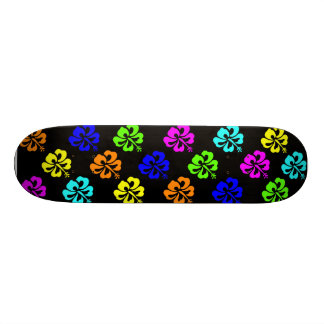 Colorful Hibiscus Skateboard Deck