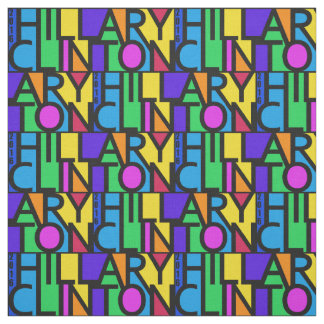 Colorful Hillary Clinton 2016 fabric