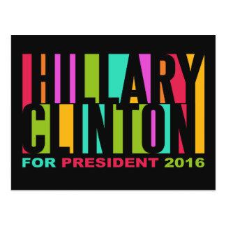 Colorful Hillary Clinton 2016 postcard
