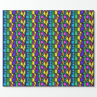 Colorful Hillary Clinton 2016 wrapping paper
