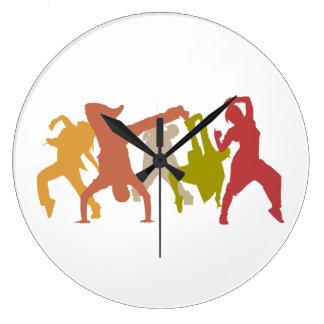 Colorful Hip Hop Dancers Clocks
