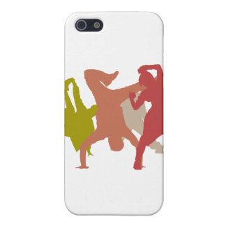 Colorful Hip Hop Dancers iPhone 5 Case