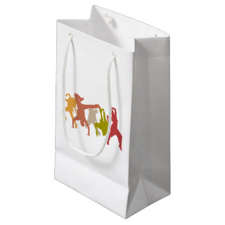 Colorful Hip Hop Dancers Small Gift Bag