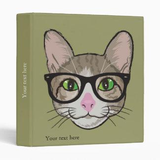 Colorful Hipster Cat Vinyl Binder