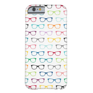 Colorful Hipster Glasses Pattern iPhone 6 Case Barely There iPhone 6 Case