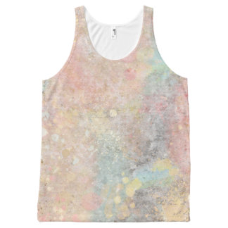 Colorful Hipster Paint Splashes All-Over-Print Tank Top