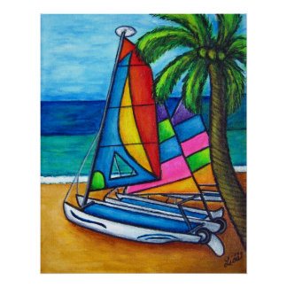 Colorful Hobby Print by Lisa Lorenz
