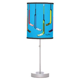 Colorful Hockey Goalie Sticks Table Lamp