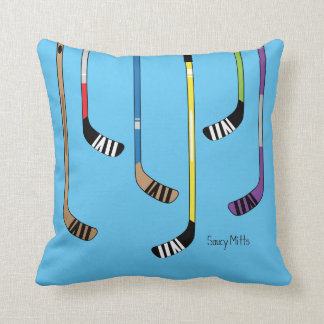 Colorful Hockey Sticks Pillow